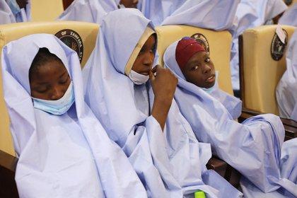 Algunas de las niñas secuestradas (AFP)