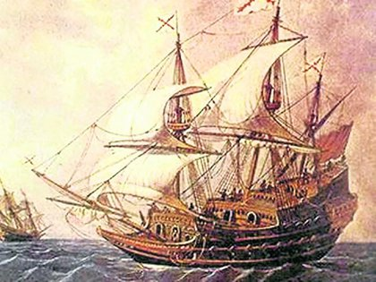 El barco se hundió hace más de 300 años en el Caribe.