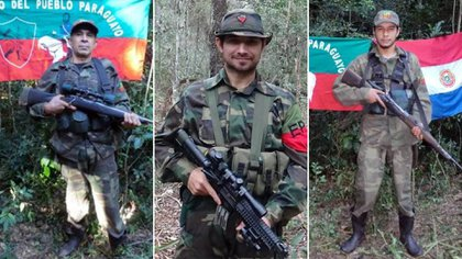 Lucio Silva, Esteban Marín López y Rodrigo Arguelo, combatientes del Partido Popular Europeo asesinados el viernes por la noche en Paraguay