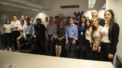 El equipo de Workia trabaja en sumar herramientas tecnológicas a los procesos de selección (Lihue Althabe)