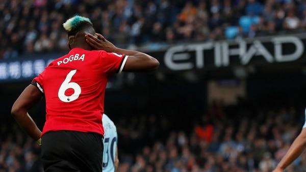 REUTERS/Russell Cheyne Paul Pogba celebra tras anotar un gol