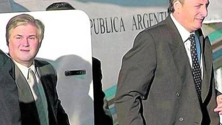 Daniel Muñoz junto a Néstor Kirchner