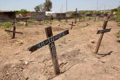 Un cementerio forense en Culiacán. Sinaloa, entidad golpeada por el narco (FOTO: JUAN CARLOS CRUZ /CUARTOSCURO.COM)
