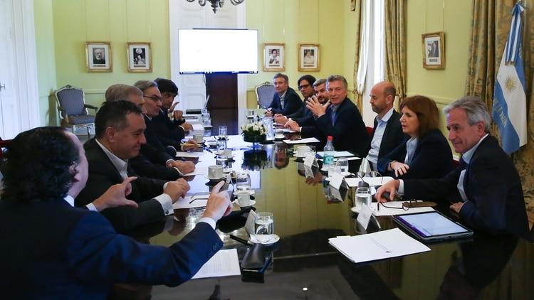 Macri encabezó hoy una reunión de Gabinete nacional (Presidencia)