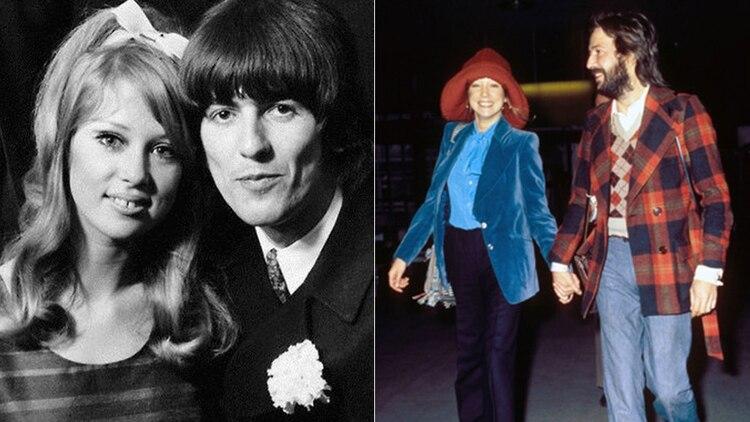 Pattie Bpyfd junto a George Harrison y luego, Eric Clapton