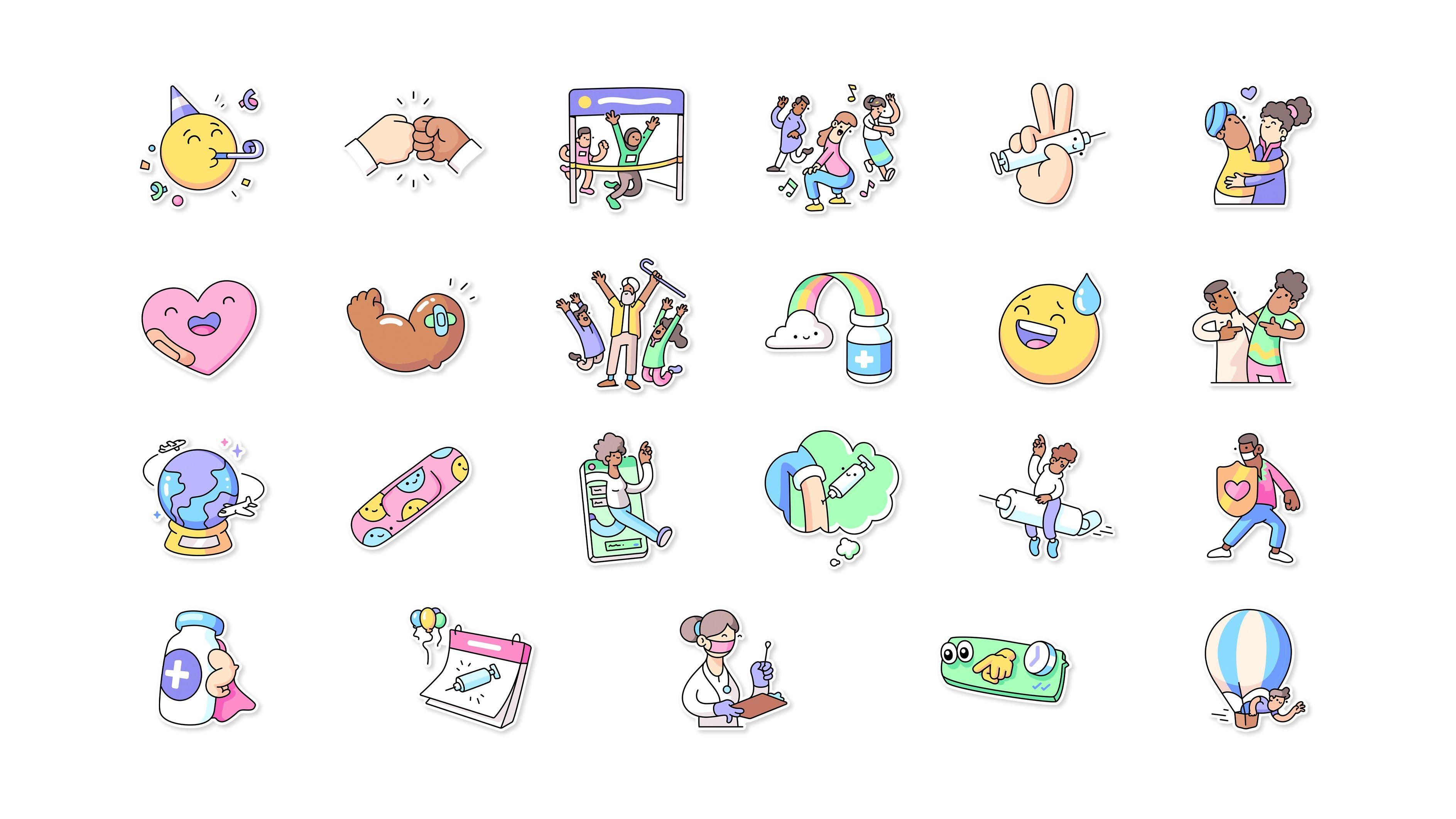 """WhatsApp sumó un nuevo pack de stickers que se llama """"Vacunas para todos"""""""