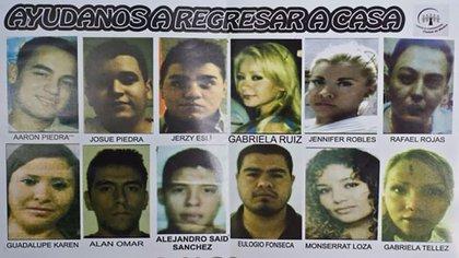 Los desaparecidos del bar Heaven's, que hallaron en una fosa clandestina en el Estado de México.