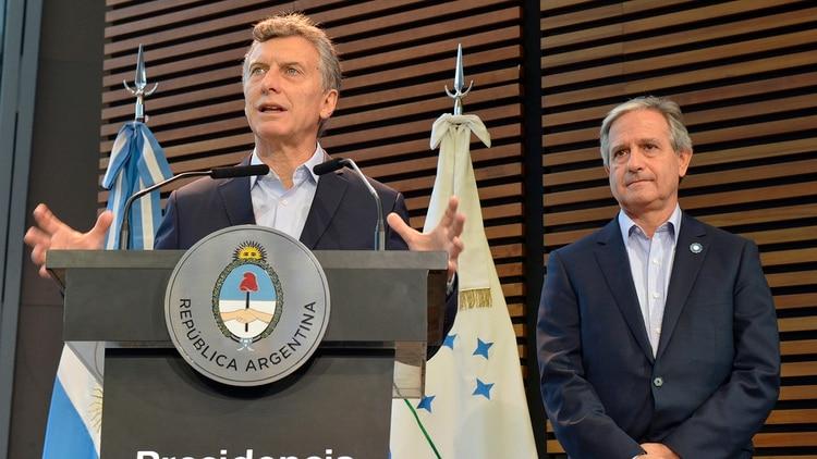 Mauricio Macri y Andrés Ibarra (NA)