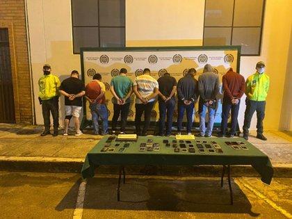 Fue desarticulada banda que comercializaba celulares robados. Crédito foto de la Fiscalía General de la Nación.