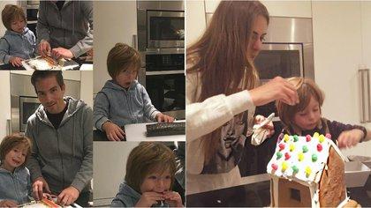 Su esposo también disfruta compartir con Mateo momentos en la cocina (Foto: Instagram @GalileaMontijo)