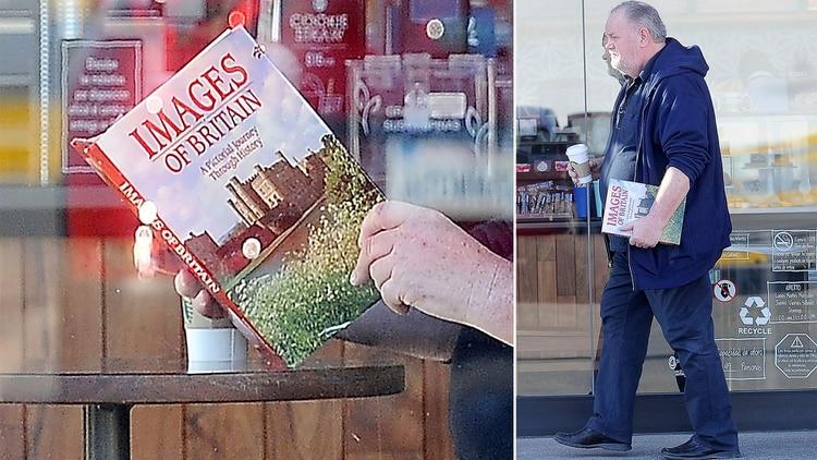 Thomas Markle se hizo fotografiar leyendo un libro sobre la historia de Gran Bretaña