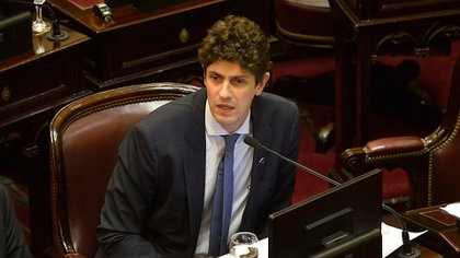 El senador Martín Lousteau fue designado vicepresidente primero del recinto. (Gustavo Gavotti)