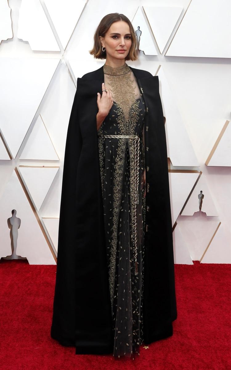 Natalie Portman también integró la lista de las mejores vestidas. Para Gurmandi, en Dior, el vestido fue un sueño.