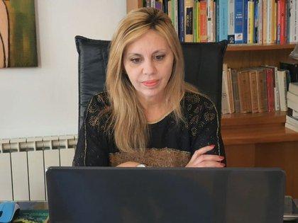 María de los Angeles Sacnun, presidenta de la comisión de Asuntos Constitucionales