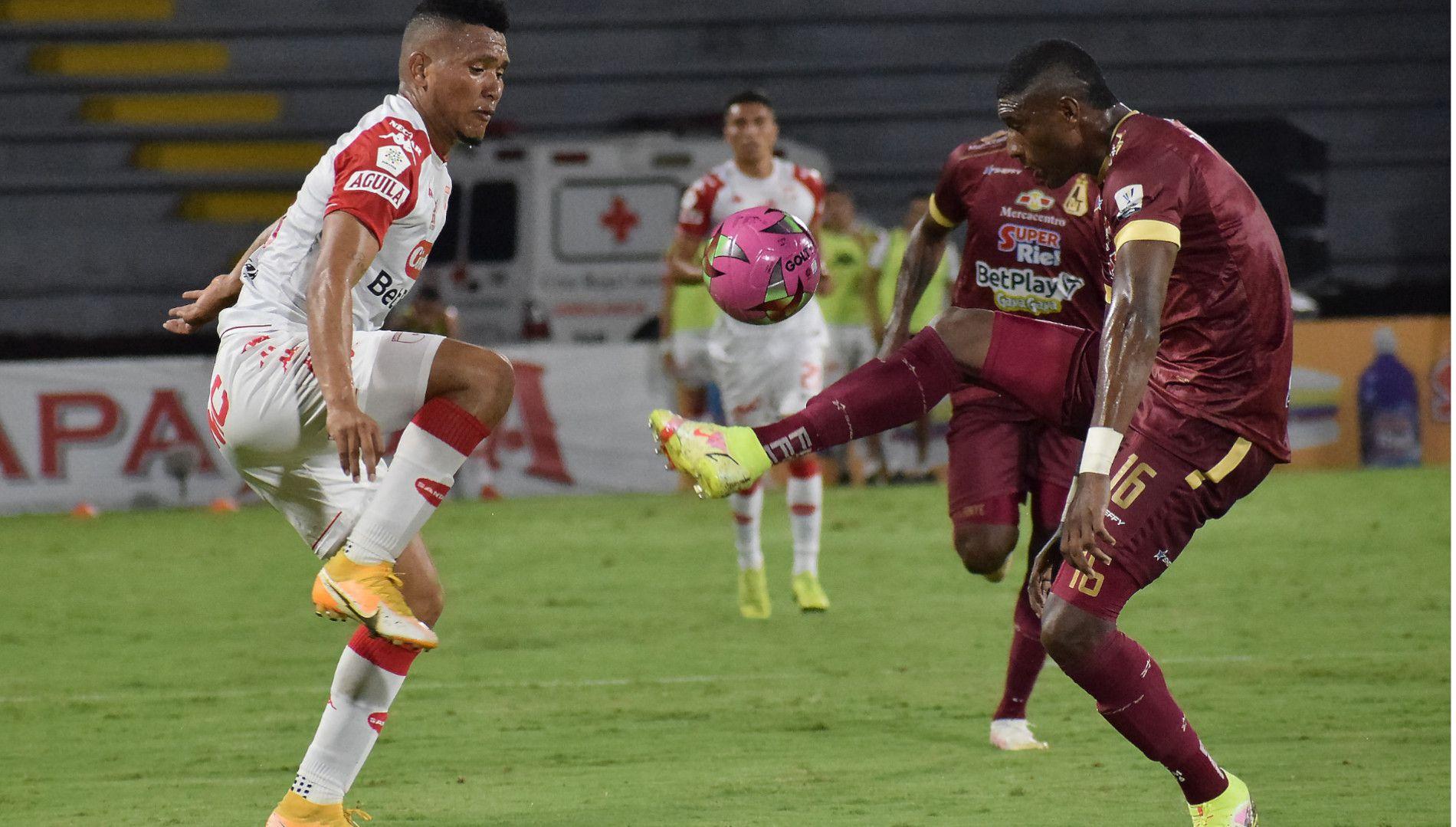 Santa Fe y Deportes Tolima empataron 0-0. Foto: Dimayor
