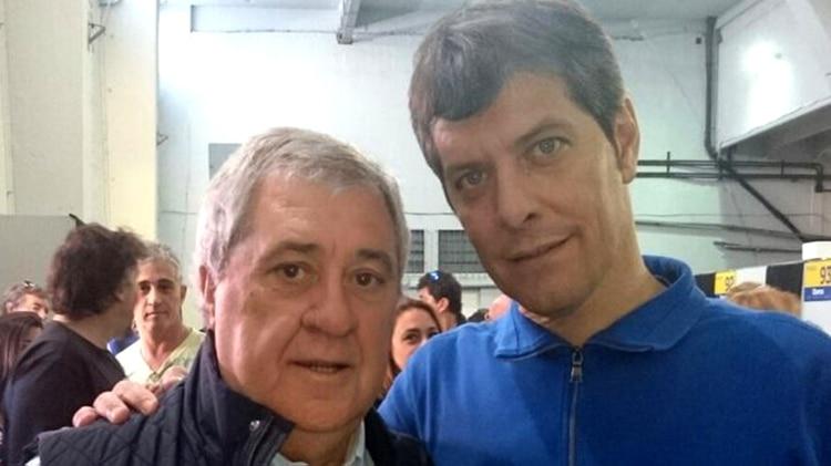 Ameal y Pergolini en las últimas elecciones de 2015 (@Boca_socios)