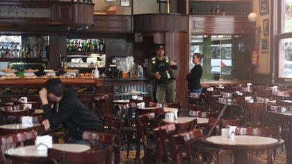 Café de los Angelitos, uno de los puntos clave de la investigación. (Télam)