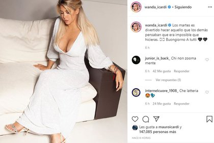 Wanda Nara dejó un fuerte mensaje, luego de las críticas de su padré, Andrés (Foto: Instagram)