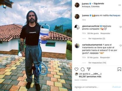 Captura cuenta Juanes Tomado de la cuenta de Instagram.