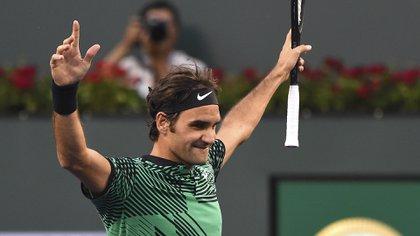 Federerya está en la final de Indian Wells (Reuters)