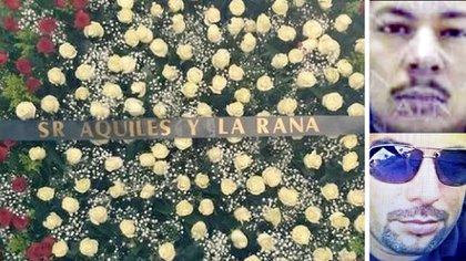 Los hermanos Arzate García enviaron una corona de flores al funeral de José Esparragoza Monzón, el Negro (Foto: Especial)