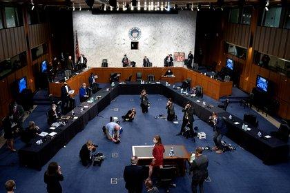 Audiencia para confirmar como jueza de la Corte Suprema a Amy Coney Barrett. Stefani Reynolds/Pool via REUTERS