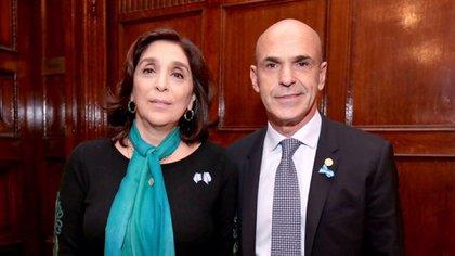 Silvia Majdalani y Gustavo Arribas