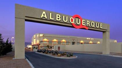 Entrada a los estudios ABQ en Albuquerque (Nuevo México) (Cortesía de ABQ Studios)