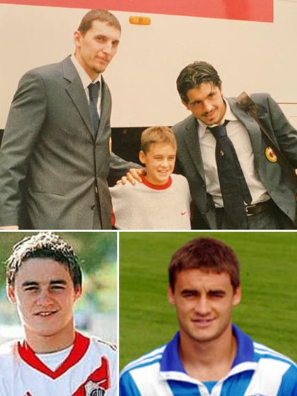 Depetris estuvo unos años en las inferiores del Milan (en la foto con Gattusso y Abbiati), luego saltó a las juveniles de River y dio el salto como profesional en Brescia de Italia
