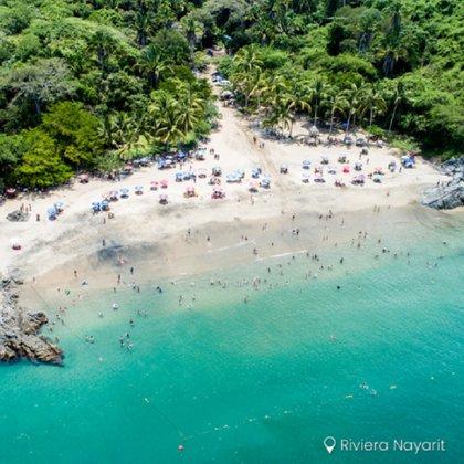 Playa de los Muertos, junto a Sayulita (Foto: Instagram @riviera_nayarit)