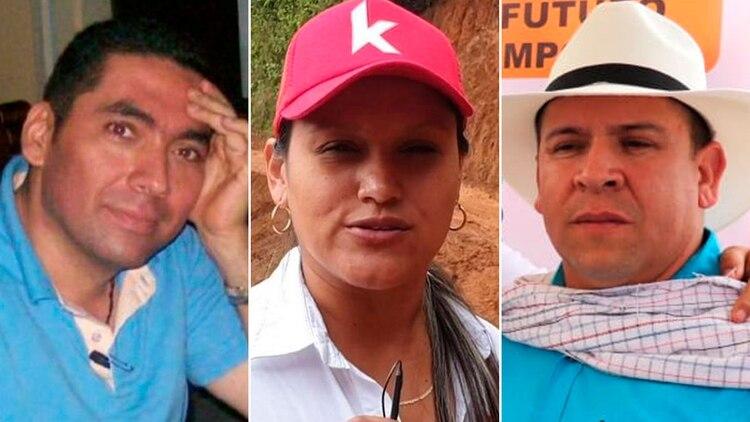 Bernardo Betancourt, Karin García Sierra y Orley García se sumaron a la lista de candidatos a alcaldes asesinados desde que se inició la campaña