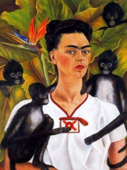 Autorretrato con monos, 1943 (Foto: Sitio Web Museo Frida Kahlo)