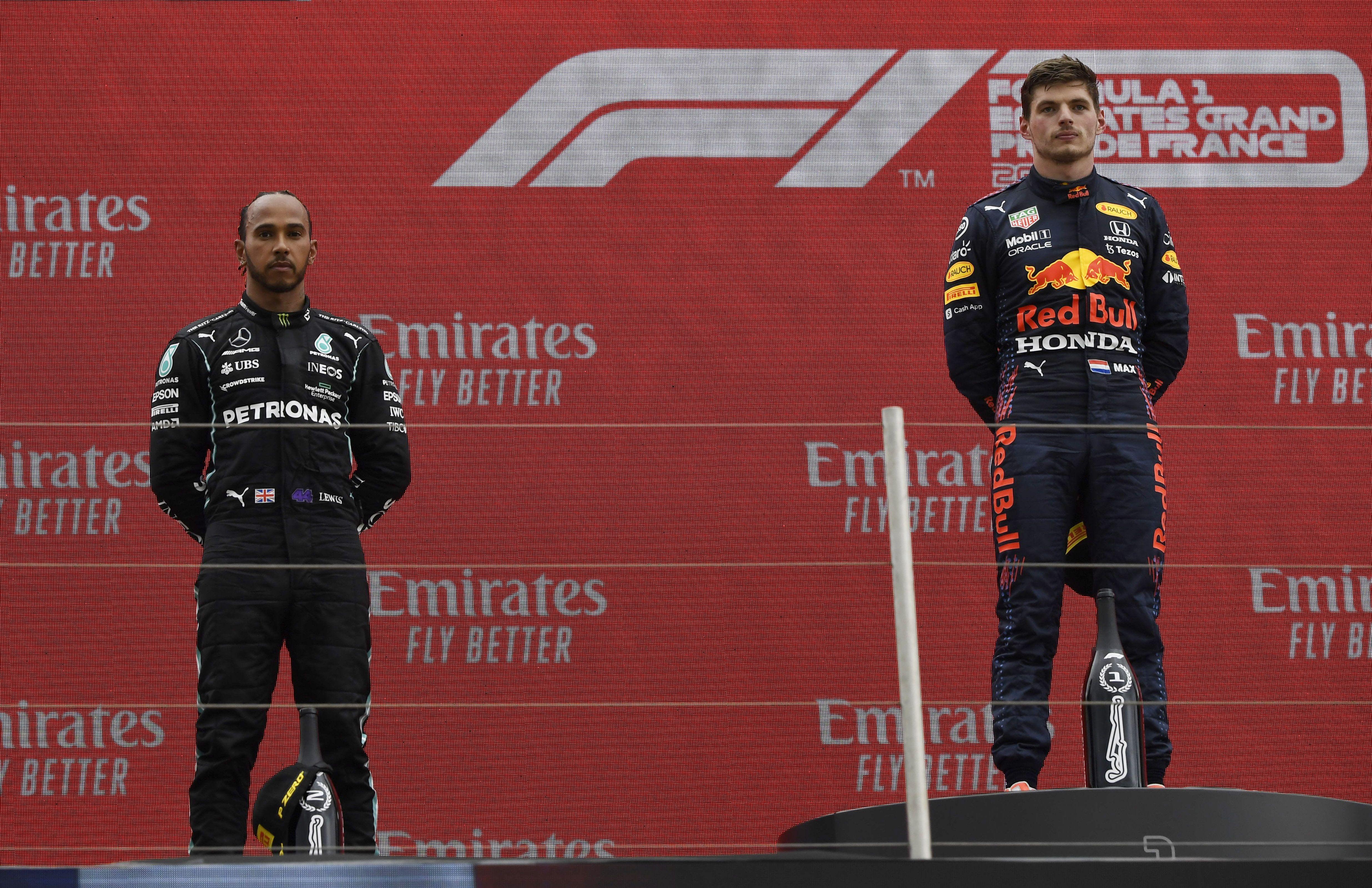 En 2021, Max Verstappen ganó cuatro carreras, y Lewis Hamilton, tres (Reuters/ Nicolas Tucat)