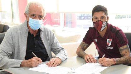 Enzo Pérez renovó su contrato con River: hasta cuándo se quedará en el equipo de Gallardo