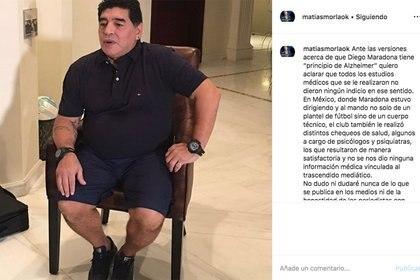 El comunicado de Morla por la salud de Maradona