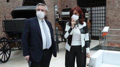 Alberto Fernández y Cristina Fernández de Kirchner en el Museo del Bicentenario. (Presidencia)