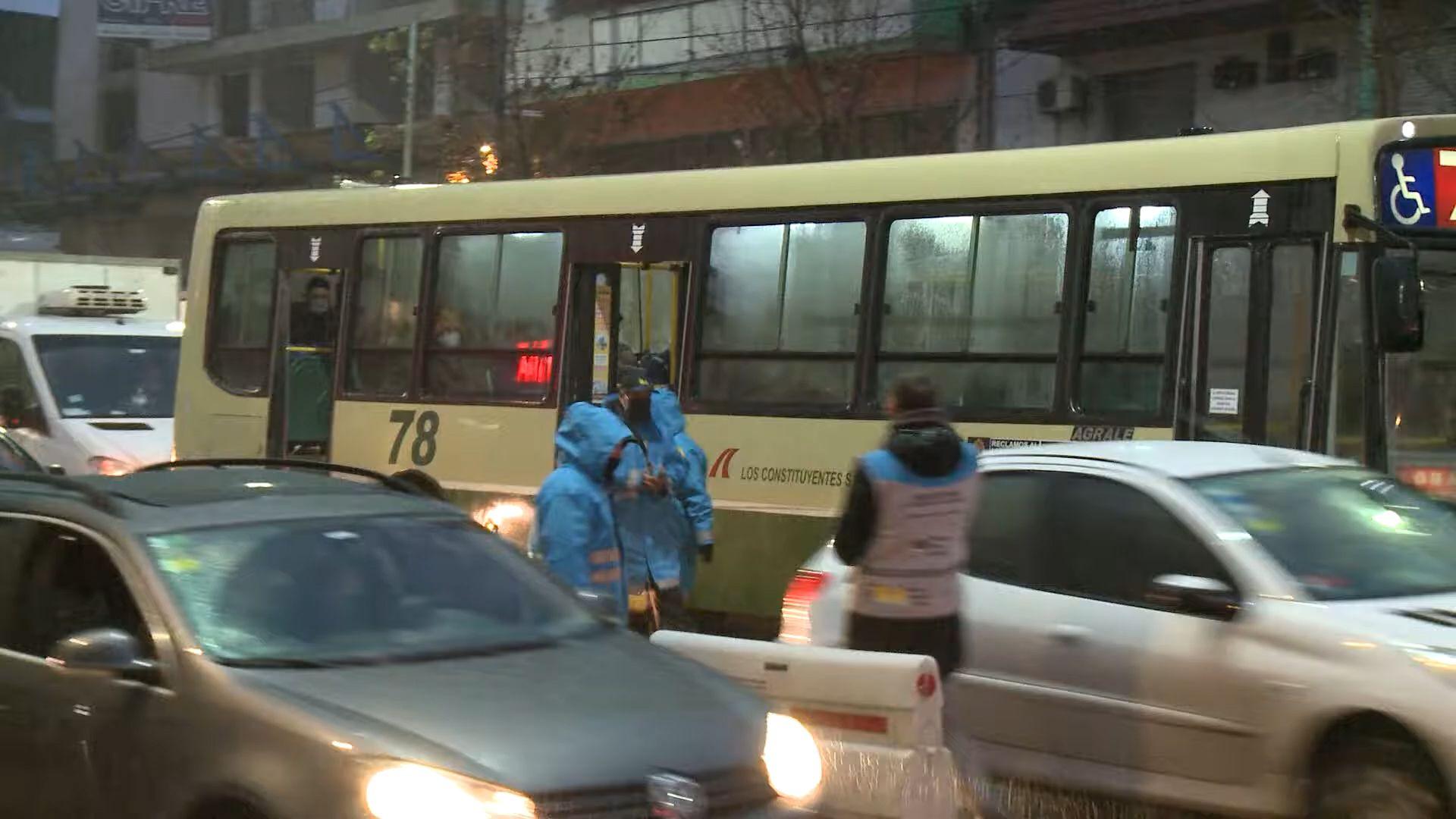Se intensifican los controles de transporte público