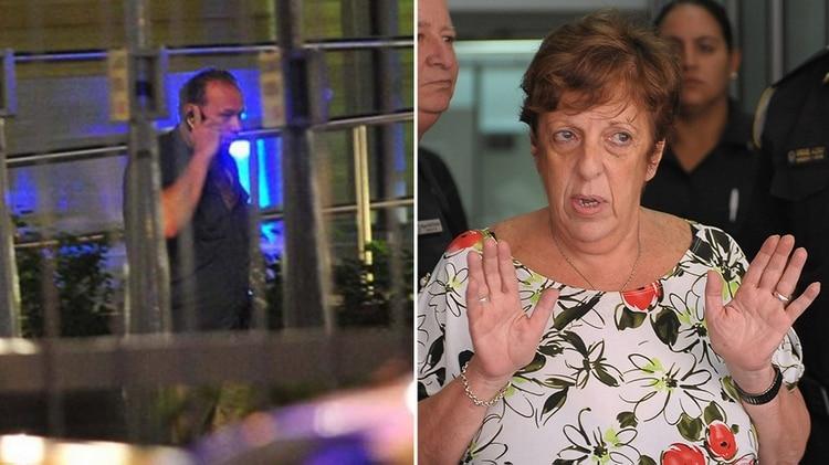 El ex secretario de Seguridad, Sergio Berni, y la fiscal Viviana Fein