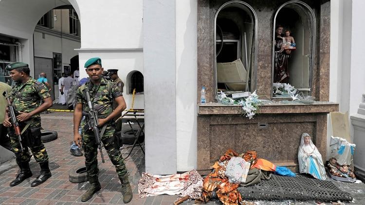 Los atentados se ensañaron con la minoría cristiana en Sri Lanka (Reuters)