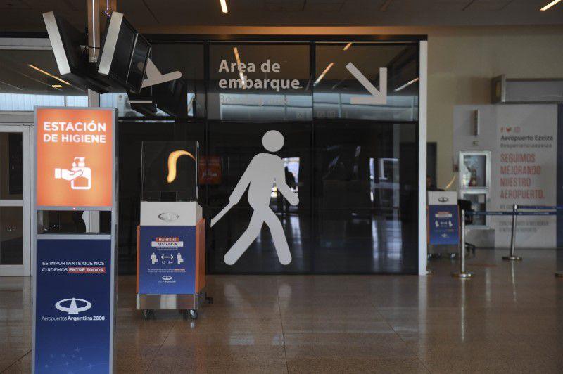 Un hall del Aeropuerto de Ezeiza