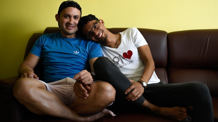 Jorge Alvarez y Daniel Landaeta (Federico PARRA / AFP)