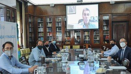 La reunión de los ministros de Finanzas y Economía de Buenos Aires, Chaco, Entre Ríos, Jujuy, La Rioja y Tierra del Fuego