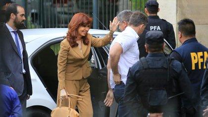 Cristina Kirchner en Comodoro Py, octubre de 2016