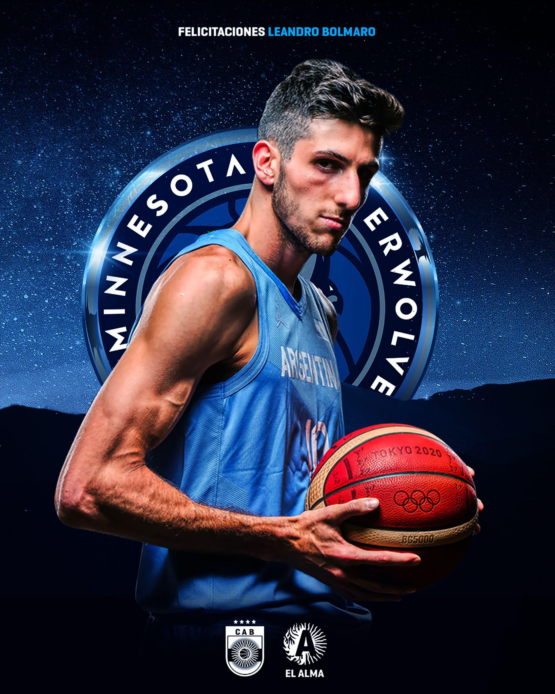 Leandro Bolmaron presentado en Timberwolves