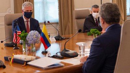 Iván Duque destacó el compromiso de Colombia y EEUU en la lucha contra el narcotráfico (Twitter: @IvanDuque)