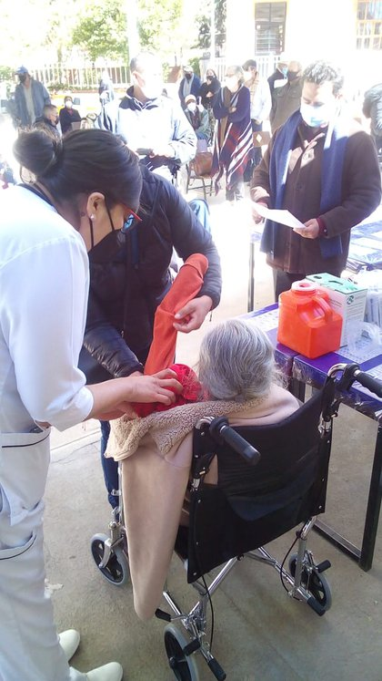 They also told the story of Doña Josefina, who is 102 years old and lives in Arteaga, Coahuila state (Photo: Twitter @ / welfaremx)