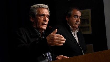 Los líderes de la CGT, Carlos Acuña y Héctor Daer