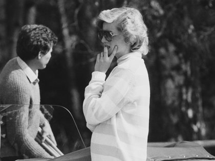 30/04/1984 Diana, Princess of Wales (1961 - 1997) attends a polo match, UK, 30th April 1984.