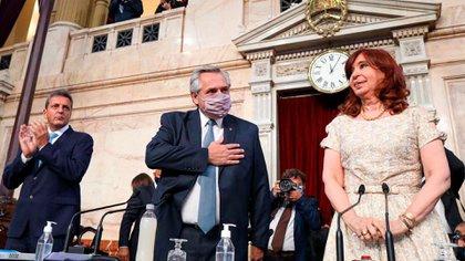 El presidente de la Nación, Alberto Fernández, abrió hoy el período 139 de sesiones ordinarias en el Congreso