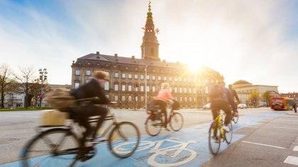 Conpenhaguen cuenta con350 kilómetros de carriles exclusivos para bicis (iStock)